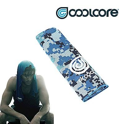 COOLCORE Chill Sport 涼感運動巾 【數位迷彩系列】數位迷彩藍