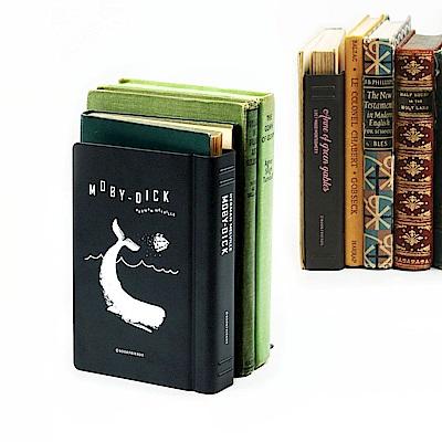 bookfriends 世界文學仿書金屬書擋-白鯨記-左
