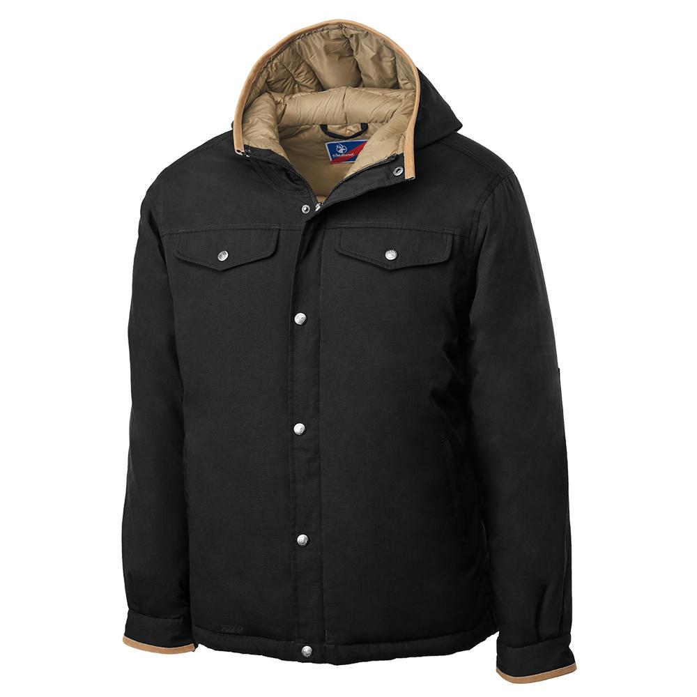 Wildland 男鵝絨防潑水極暖外套黑