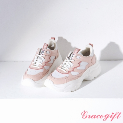 Disney collection by gracegift-櫻花粉嫩角色老爹鞋 粉
