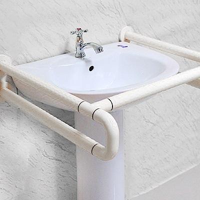 IA051 無障礙 洗手台面盆安全扶手/浴室扶手 ABS 牙白防