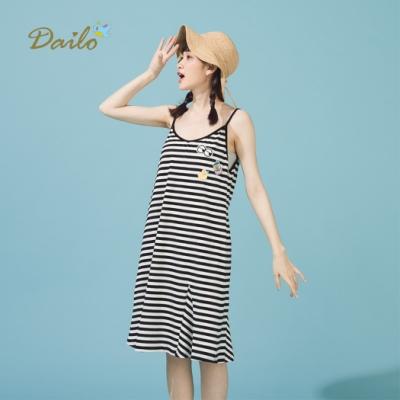 特降【Dailo】細肩帶條紋內搭-洋裝(二色)