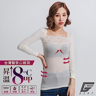 GIAT150D蕾絲美型機能保暖衣(一般款/純米白)