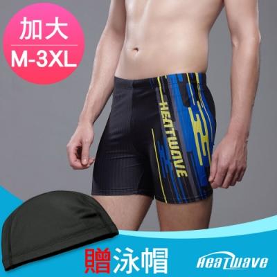 Heatwave熱浪 加大男泳褲 七分馬褲-巴柏格(M-2XL)贈泳帽329