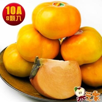 果之家 秋之賞特選甜柿10A8顆裝(單顆9-10兩)