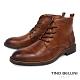 TINO BELLINI 男款葡萄牙進口牛皮原色休閒粗曠工裝靴-駝 product thumbnail 1