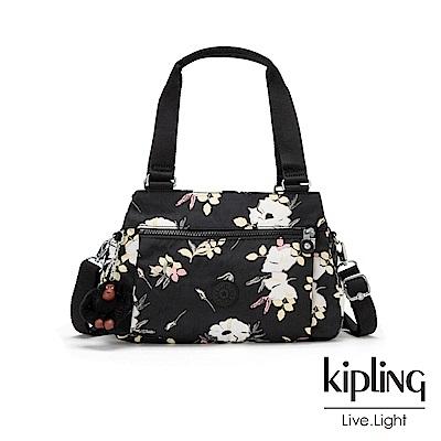Kipling 浪漫花卉梯形手提側背包-ORELIE