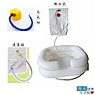 海夫健康生活館 建鵬 JP-822 豪華雙層充氣式洗頭槽 洗頭器(附熱水袋、打氣筒、蓮蓬頭