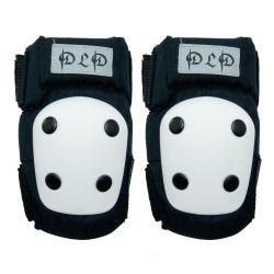DLD多輪多 專業特技直排輪護具 溜冰鞋 蛇板 滑板護具 極限運動強化護肘護膝 黑白 XS