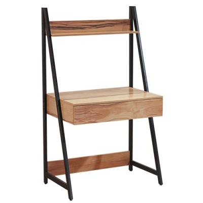 綠活居 麥格利 時尚2.8尺開放式單抽書桌-84x55x145cm免組