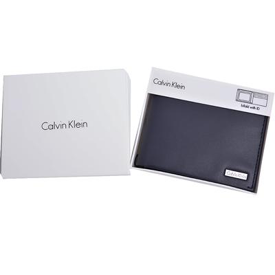Calvin Klein CK 男士商務皮革短夾禮盒(沉穩藍)