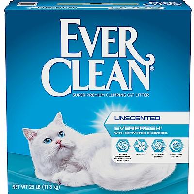 (時時樂限定)美國EverClean《藍鑽系列》活性碳除臭貓砂25磅
