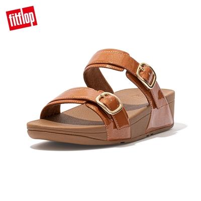 FitFlop LULU GLITTER ADJUSTABLE SLIDES 可調整式雙帶涼鞋-女(靓黑色)