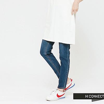 H:CONNECT 韓國品牌 女裝-簡約修身牛仔褲-藍