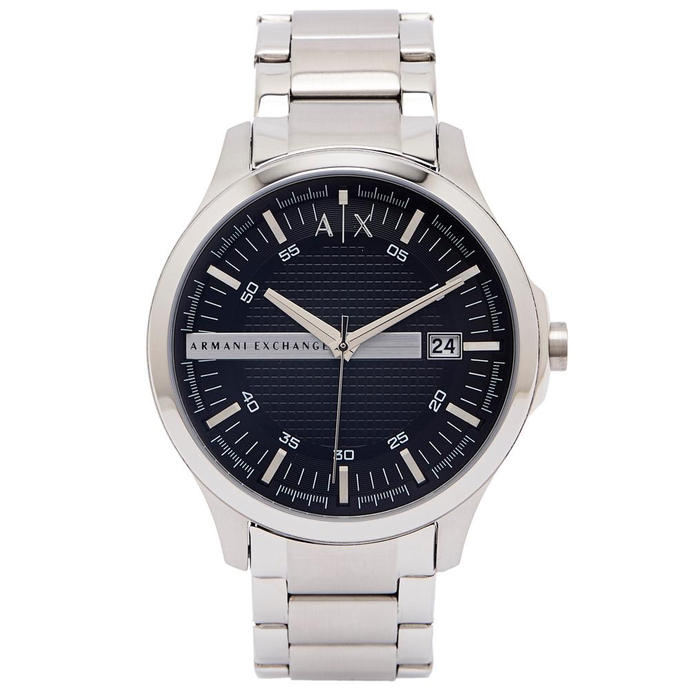 ARMANI EXCHANGE 時尚風格的鋼帶手錶(AX2103)-黑色面/46mm
