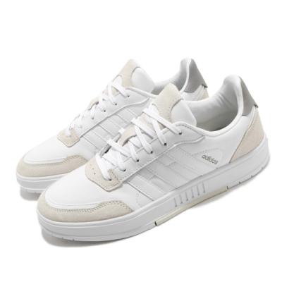 adidas 休閒鞋 Courtmaster 運動休閒 男鞋 愛迪達 麂皮 皮革 穿搭 低筒 白 灰 FV8106