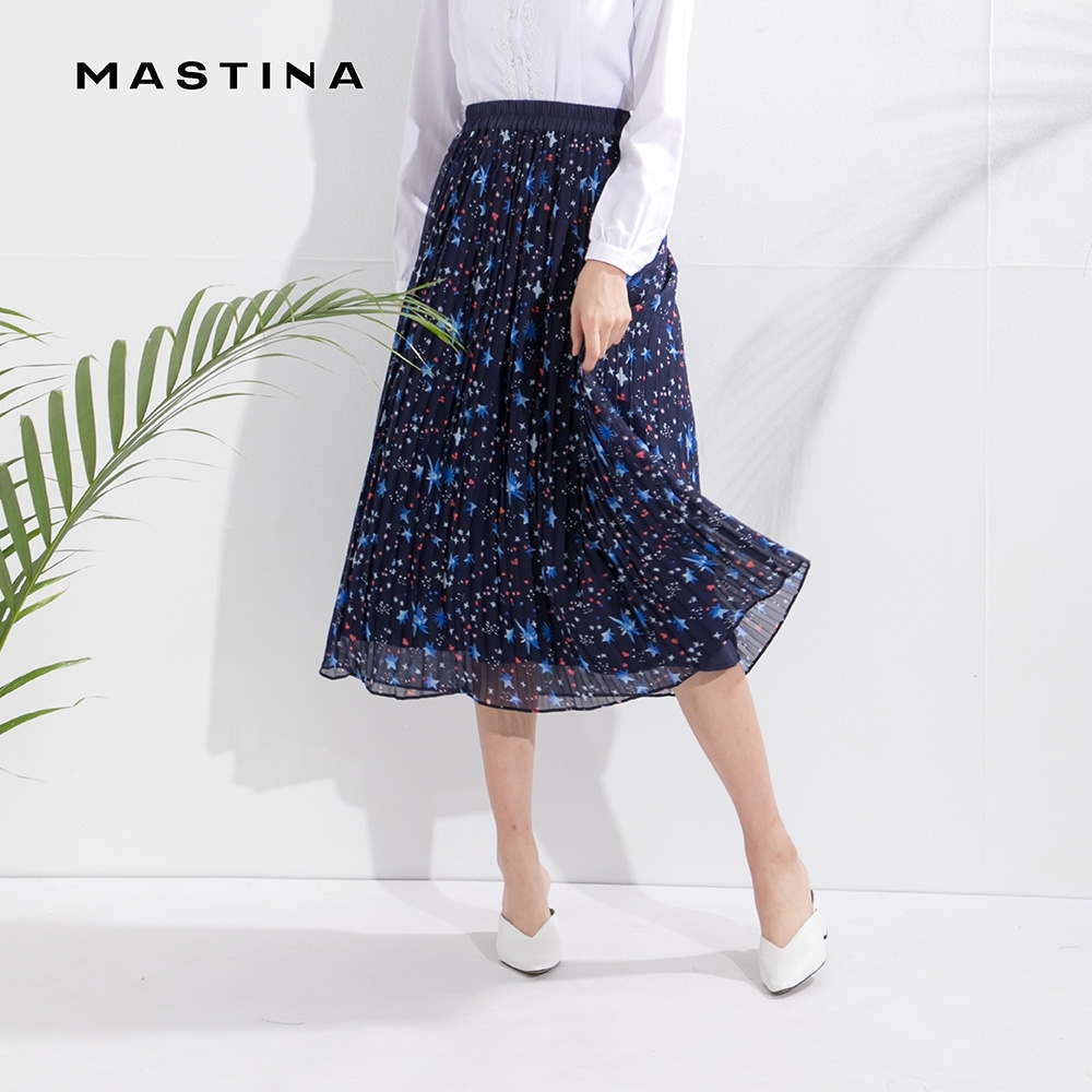 【MASTINA】滿天星空印花層次-長裙(二色)