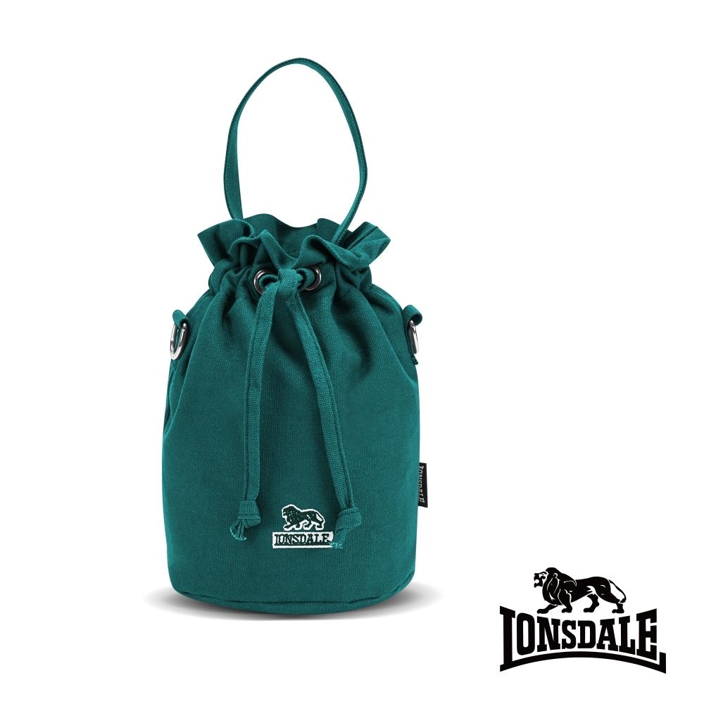 【LONSDALE】英國60周年經典小獅包-帆布斜背水桶包-孔雀綠 LD1313