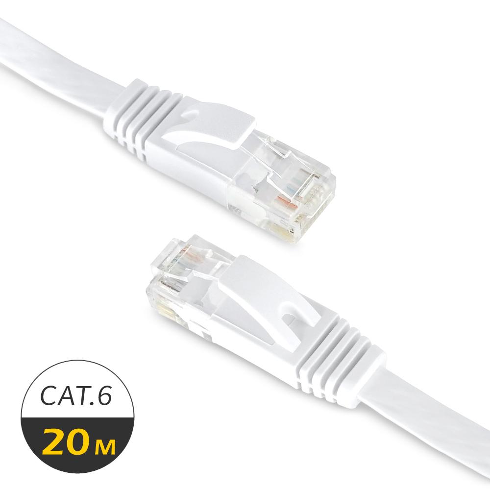 RONEVER VAA-20 Cat.6高速超薄扁線網路線20米 @ Y!購物