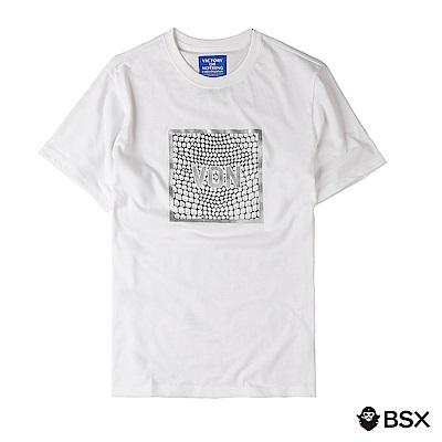 BSX 男裝VON印花LOGOT恤-03 白色