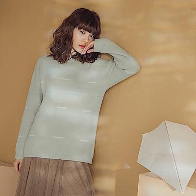 幾何圖形小高領柔軟針織長袖毛衣-OB嚴選