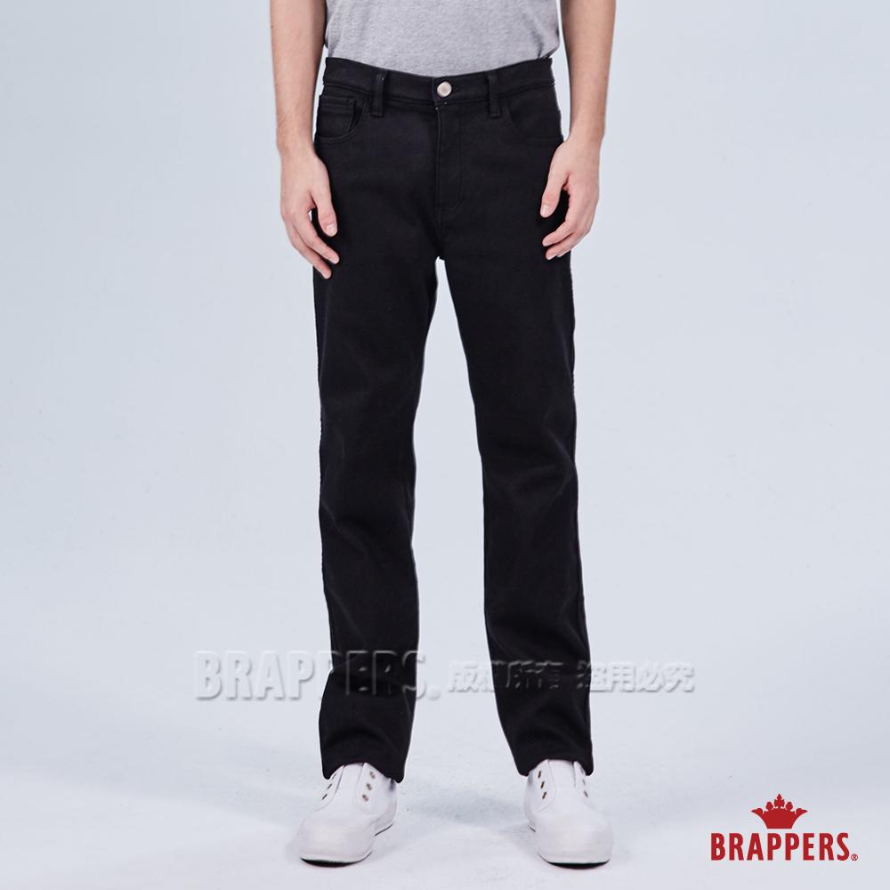 BRAPPERS 男款 HC-Cargo系列-中腰彈性保暖直筒褲-黑