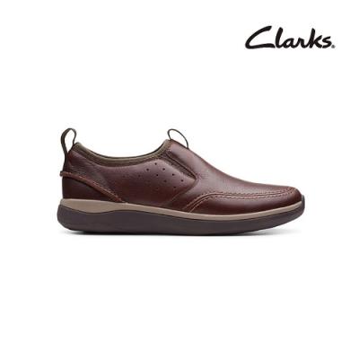 Clarks   摩登經典  Garratt Step   男鞋   紅褐色   CLM48760SC20