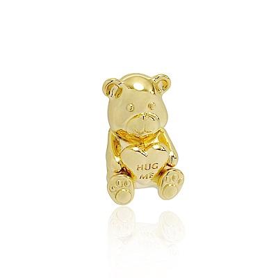 Pandora 潘朵拉 18k金泰迪熊 純銀墜飾 串珠
