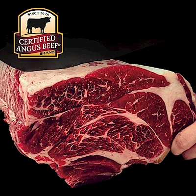 豪鮮牛肉頂級熟成安格斯Prime霜降沙朗牛排4片(400g±10%片)