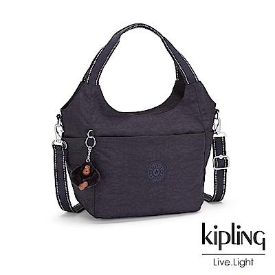 Kipling 雲彩深紫圓弧手提側背包-CAROLA
