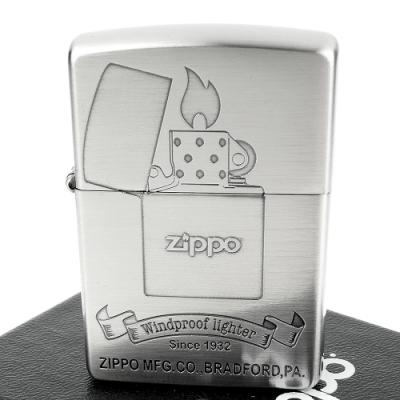 ZIPPO 日系~打火機圖案蝕刻加工打火機(鎳古美款)