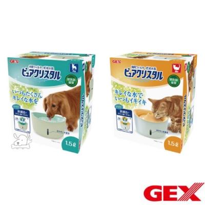 GEX 視窗型 犬貓用 電動飲水器 1.5L