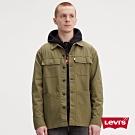 Levis 男款 復古工裝夾克 多口袋設計 彈性布料 軍綠