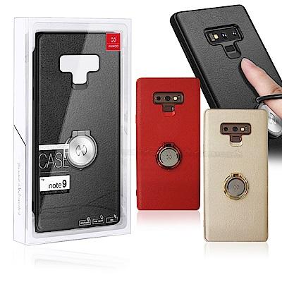 XUNDD Samsung Galaxy Note9 奢華皮革指環扣支架手機殼