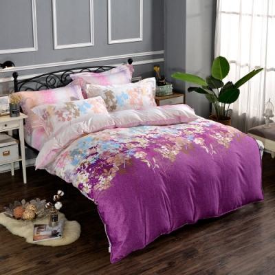 Betrise絢麗花舞 臻選系列 加大 頂級300織100%精梳長絨棉四件式兩用被床包組