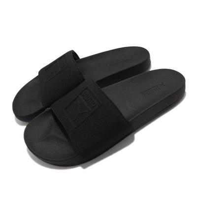 Puma 拖鞋 Comfort Emboss 男女鞋 柔軟 回彈 防滑 基本款 外出 方便 情侶鞋 黑 382076-01