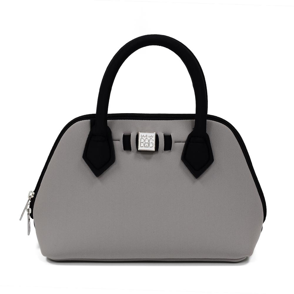 SAVE MY BAG 義大利品牌 PRINCESS MINI系列 灰裸色超輕量迷你手提包