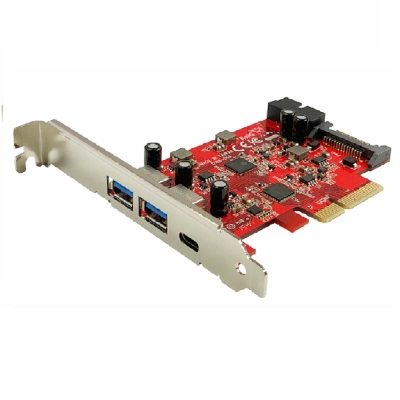 Awesome PCIe x4 5埠USB 3.1 Gen2 10Gbps擴充卡 - AWD-UB-158