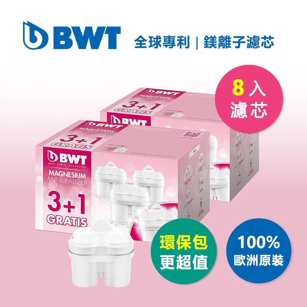 【BWT德國倍世】Mg2+鎂離子長效濾芯環保超值組-8入