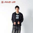 【FIVE UP】刷毛連帽外套-黑