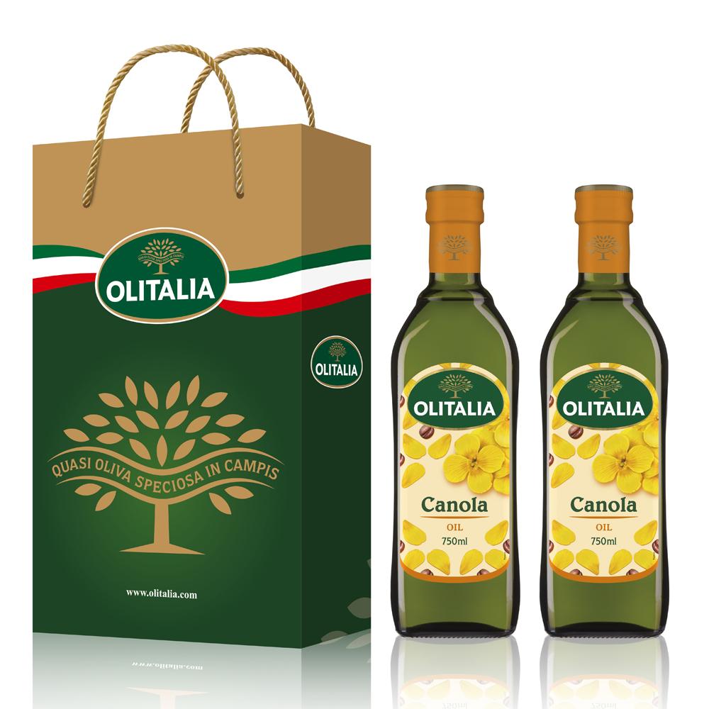 (活動)Olitalia奧利塔 頂級芥花油禮盒組(750mlx2瓶)