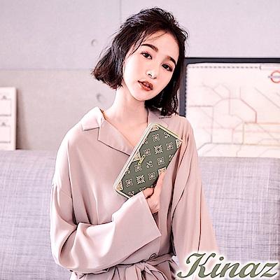 KINAZ 輕吻玫瑰ㄇ字型長夾-香水系列