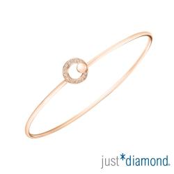 Just Diamond 18K玫瑰金鑽石手環-Hera kiss 天后之吻
