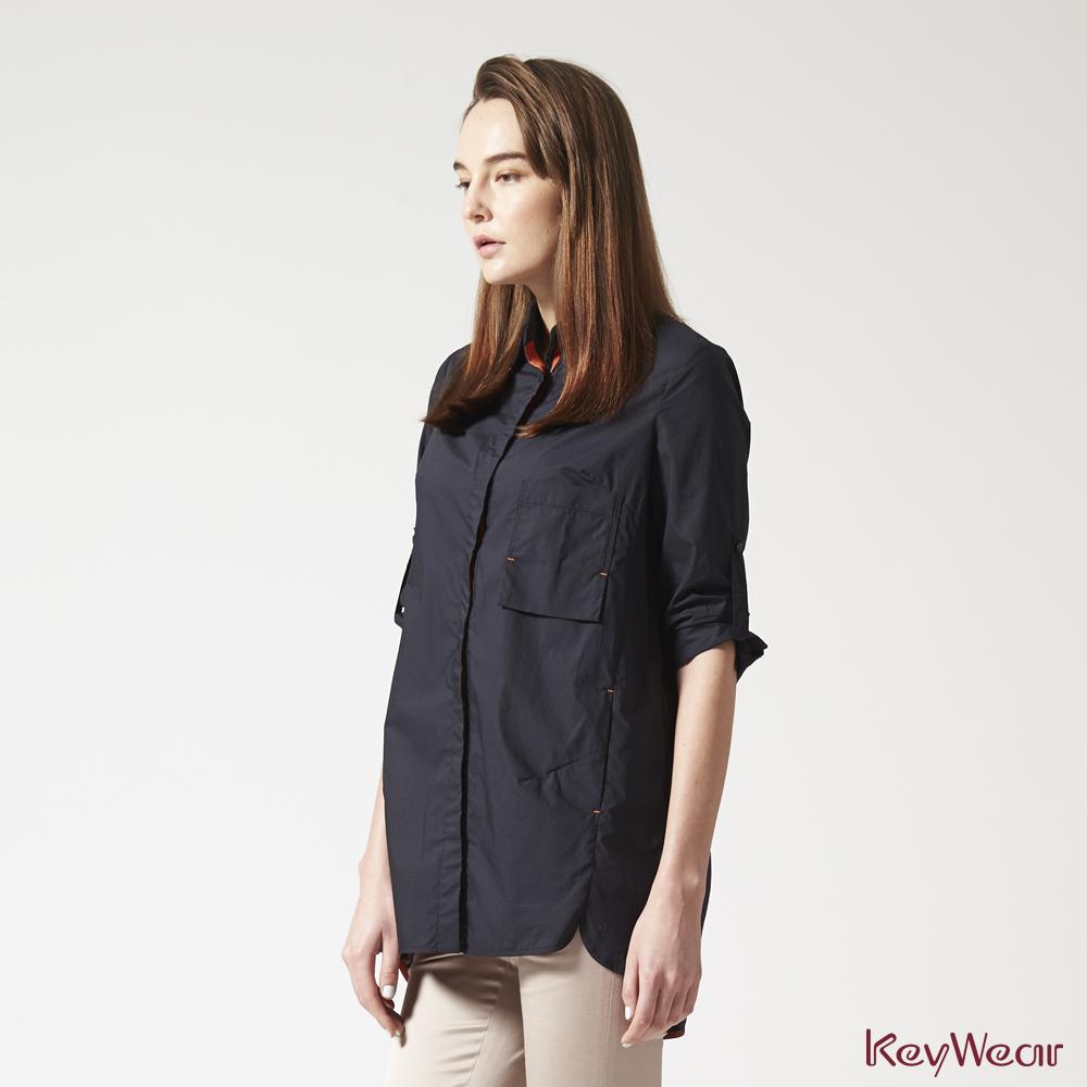 KeyWear奇威名品     100%純棉時尚商務五分袖襯衫-黑色 @ Y!購物