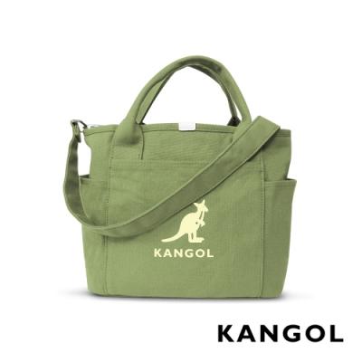 KANGOL 韓版玩色-帆布手提/斜背托特包-草綠 AKG1216-15