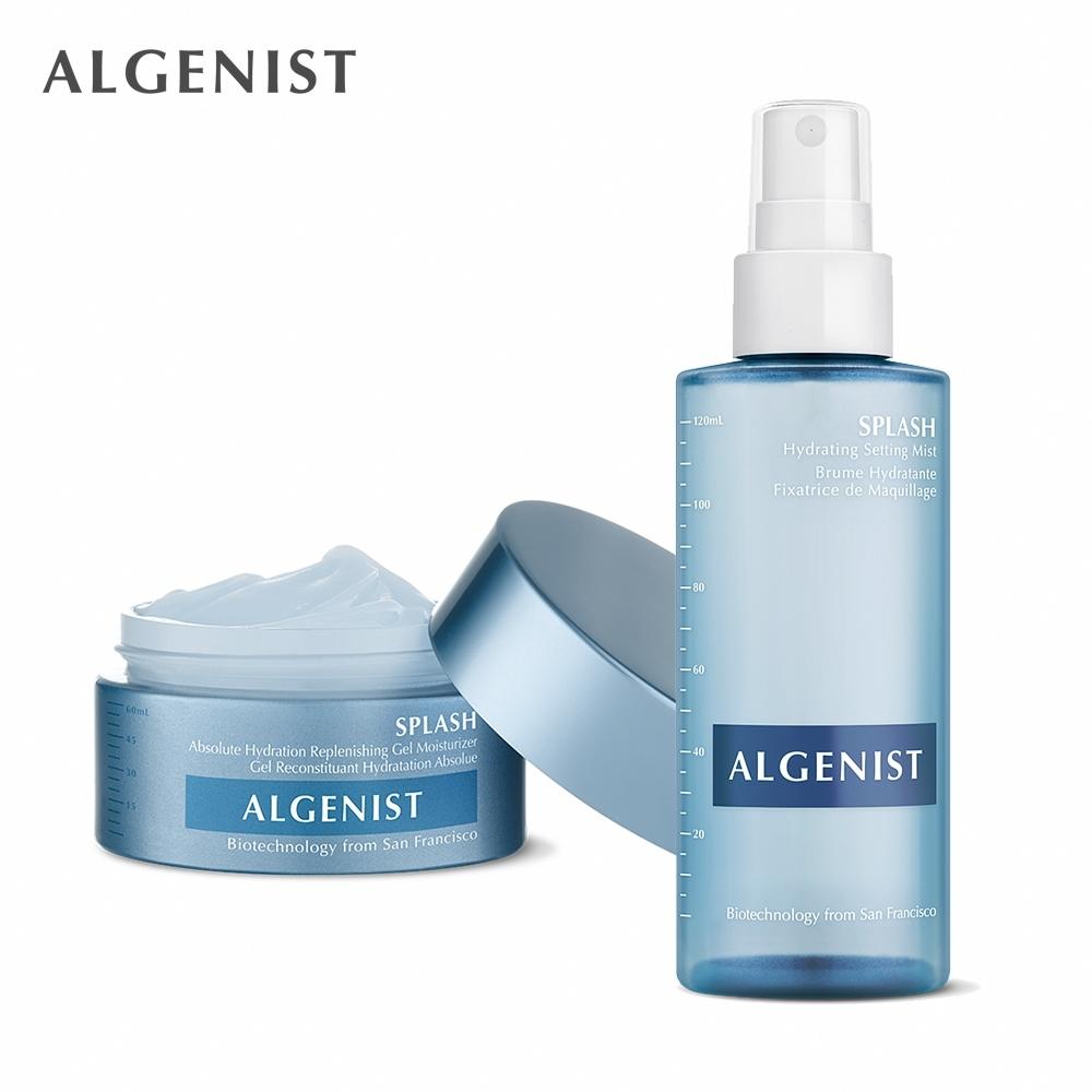 Algenist 夏季清爽保濕組-極速水活噴霧 120ml+極速水活凝露 60ml