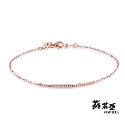 蘇菲亞 SOPHIA - 簡愛玫瑰金14K鑽石手鍊