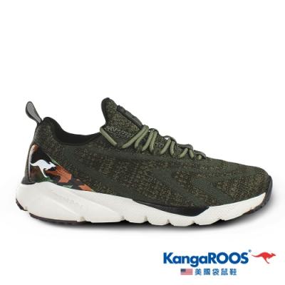 KangaROOS 美國袋鼠鞋 男 RIPPLE 超輕量慢跑鞋(橄欖綠-KM01095)