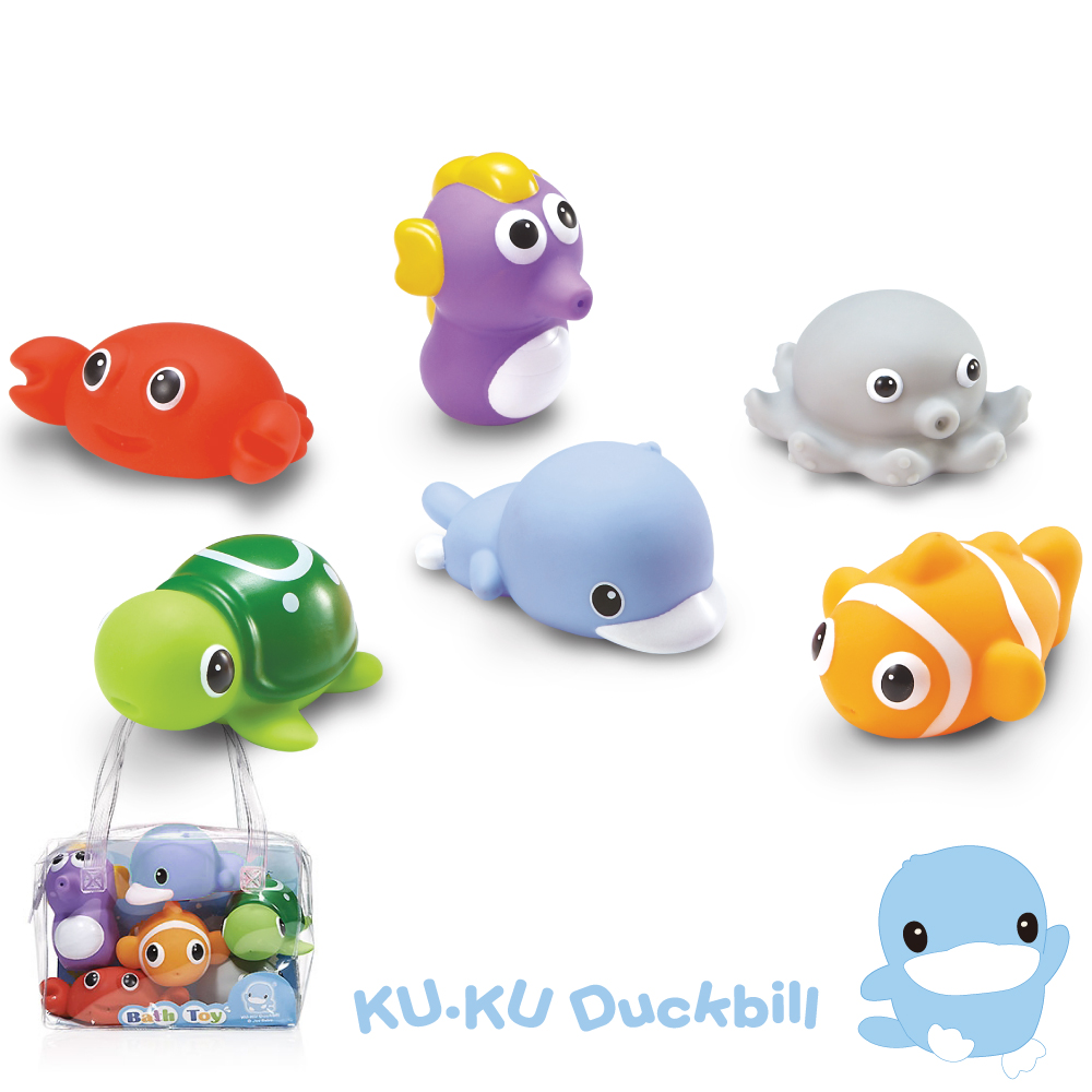 KU.KU酷咕鴨-水中玩具海洋動物組 @ Y!購物