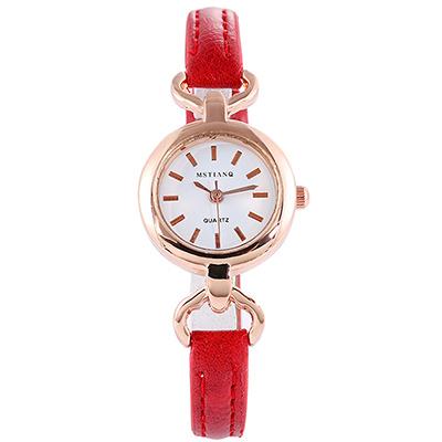 Watch-123 完妝美人-玫金框復古迷你小錶盤手錶